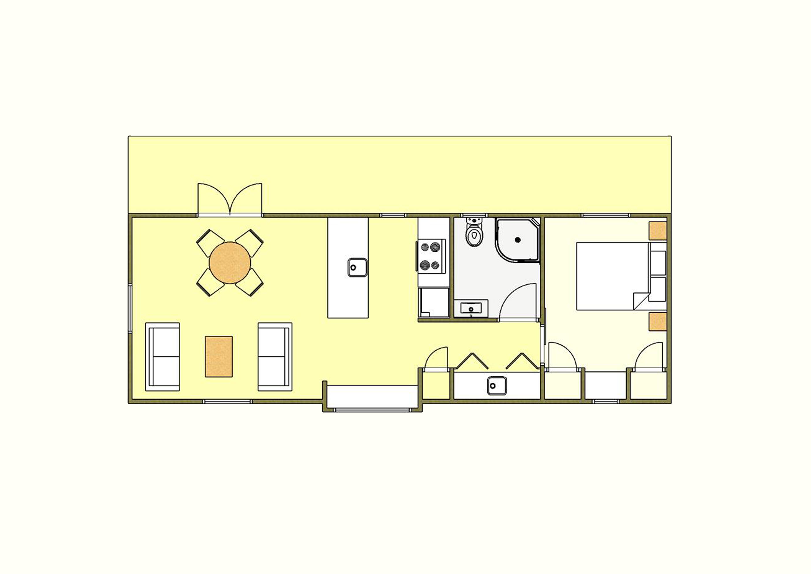 50 sqm Plan One - 1 Bedroom