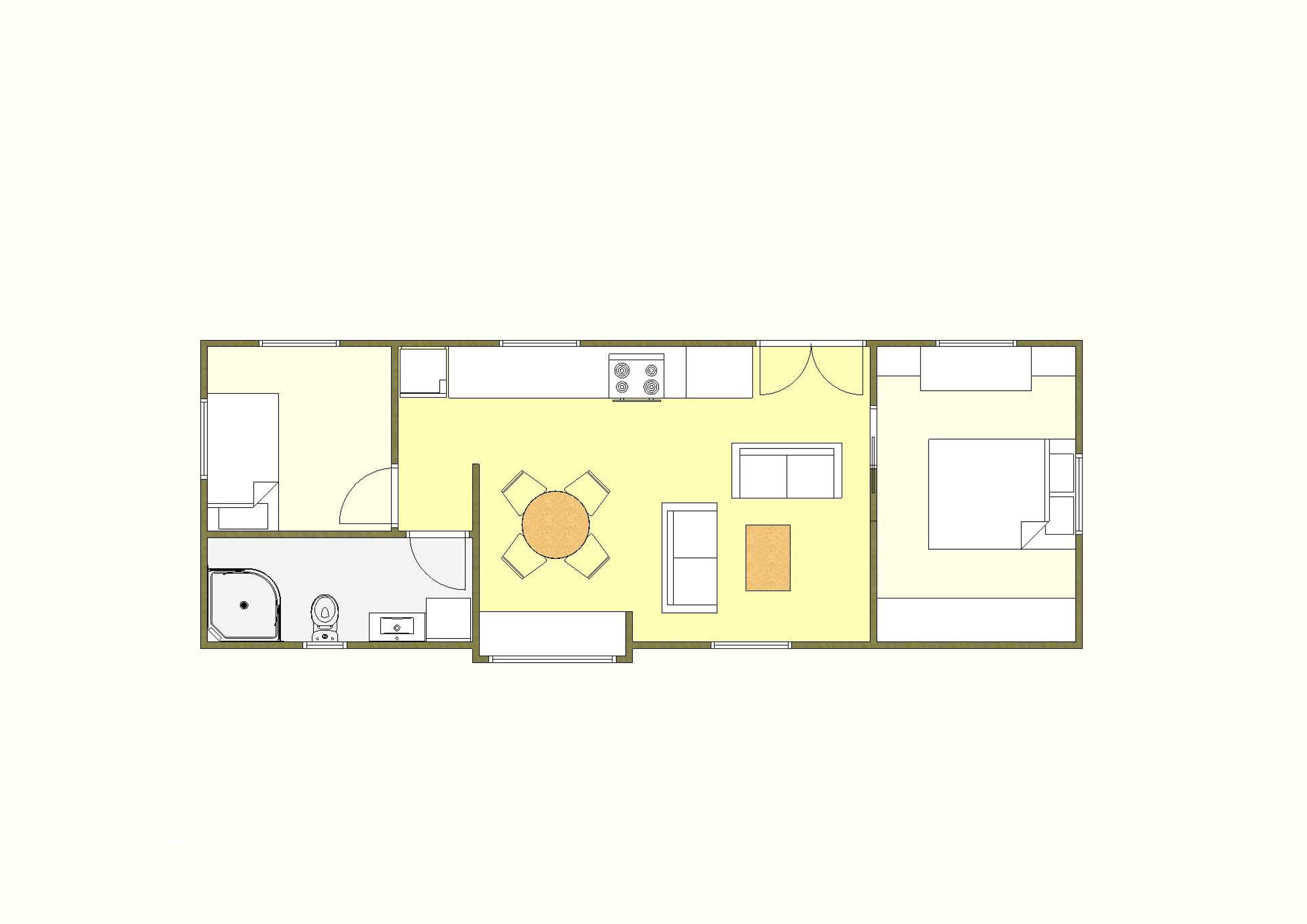 50 sqm Plan Five - 2 Bedroom