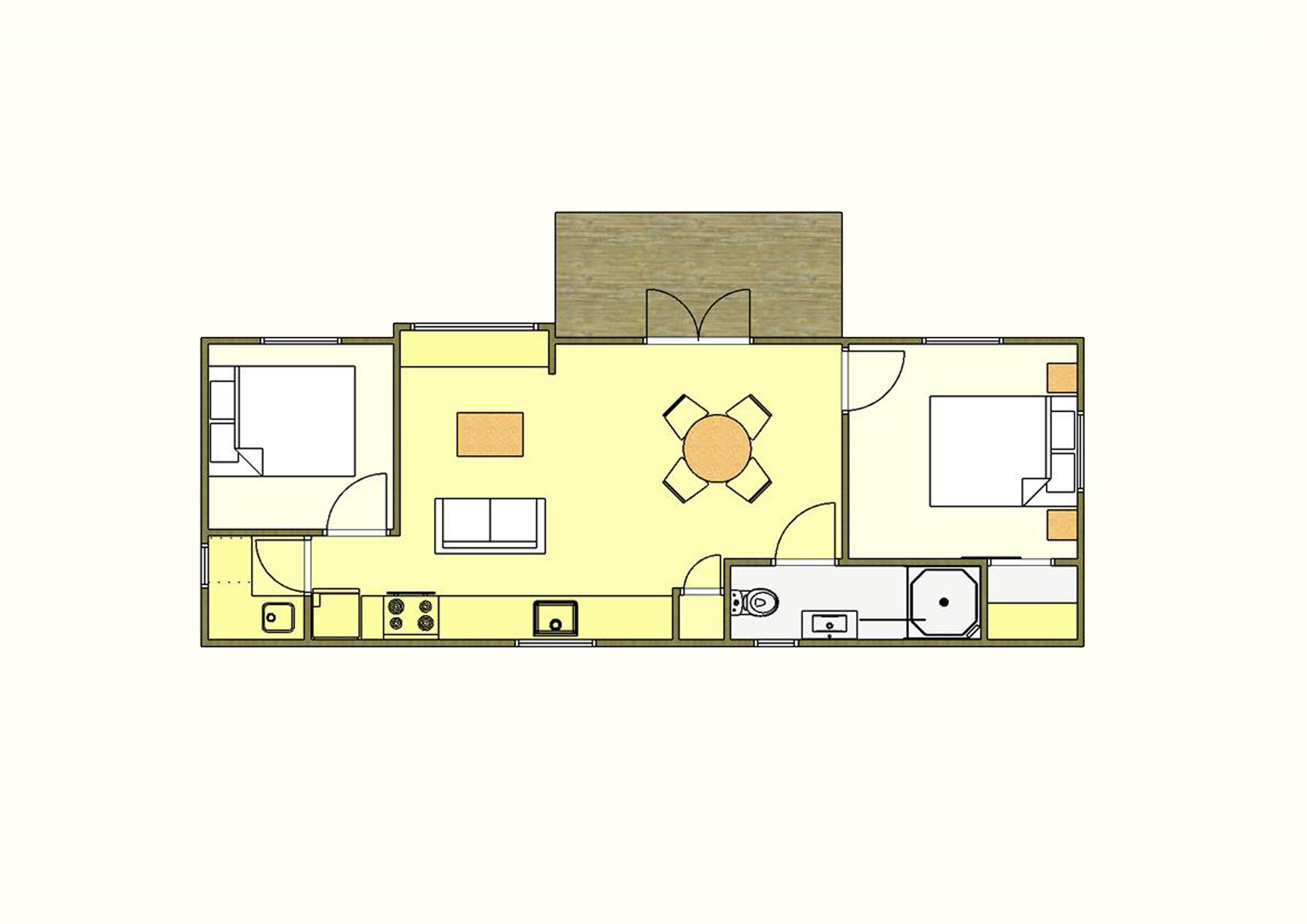 50 sqm Plan Two - 2 Bedroom