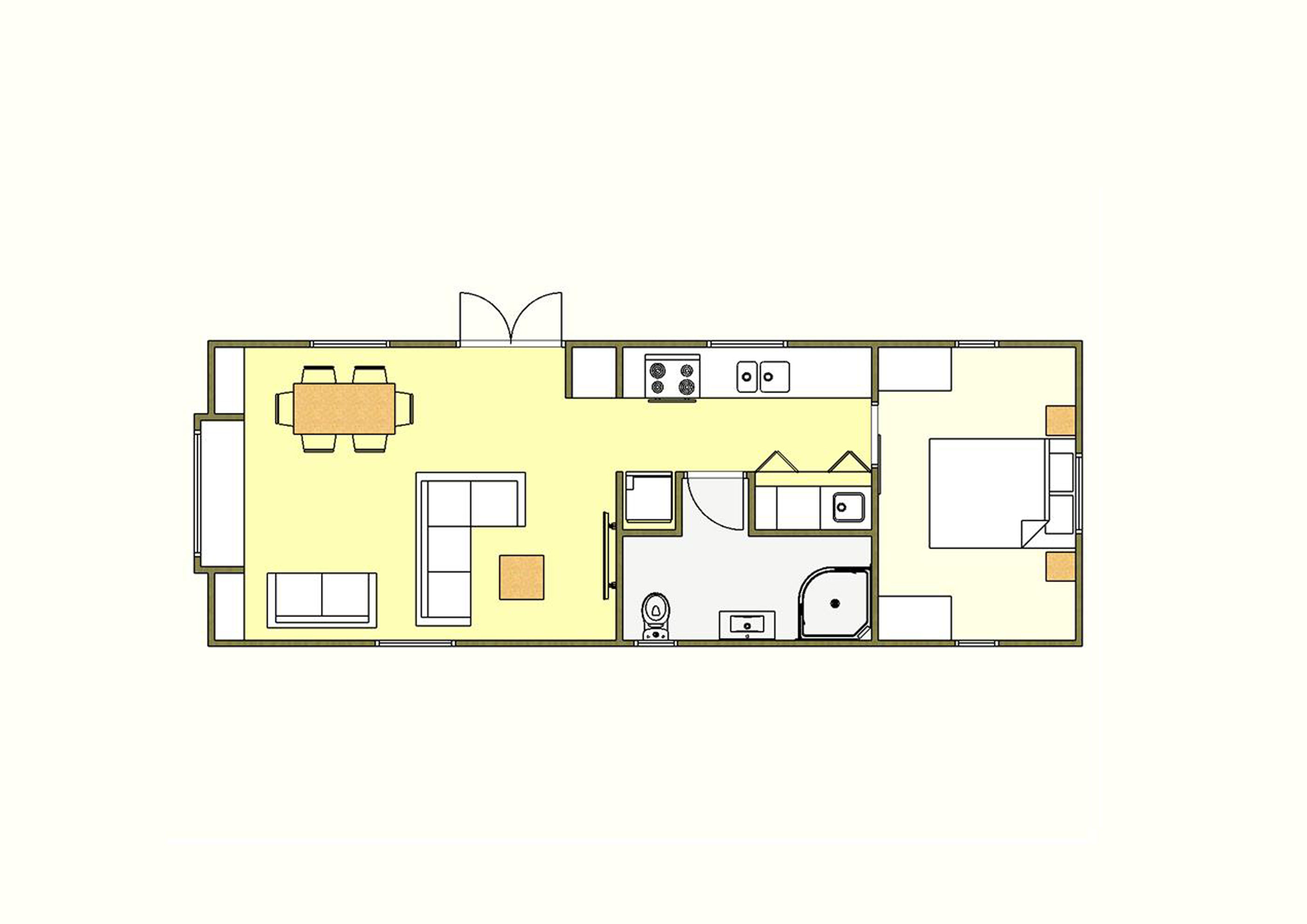50 sqm Plan Four - 1 Bedroom